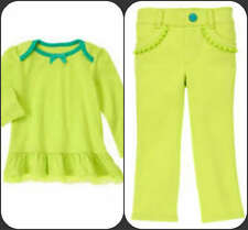 Gymboree NWT Green RuffleTop or Green Knit Pant Sz 12/18 mos. SOLD SEPARATELY