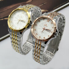 Classic Fashion Luxury Men's wrist Watch Stainless Steel Band Analog Date&Day
