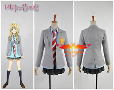 April is Your Lie Miyazono Kaori School Uniform Cosplay Costume Any Size