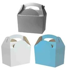 BIRTHDAY PARTY FOOD MEAL GIFT BOXES - FROZEN WHITE - SILVER - LIGHT BLUE