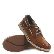 Mens Sebago Triton Three Eye British Tan Marine Boat Deck Shoes Loafer Uk Size
