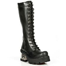 NEW ROCK, Women's Tall Lace-Up Punk/Gothic style Boots M237 S1 Black