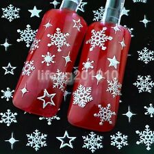 Christmas 3D Nail Art Sticker Decals Decoration Styling Tools Snowflake Design S