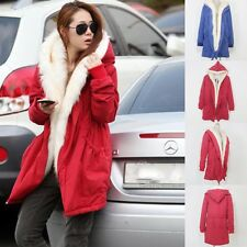 Women Fashion Faux Fur Jacket Warm Winter Parka Coat  Long Outerwear Size10-20