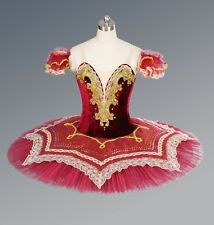 Red & Gold Professional Ballet Tutu Classical Performance Dance Costume