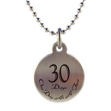 Sobriety Anniversary Medallion Necklace Any Month or Year