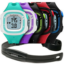 Garmin Forerunner 15 FR15 Black/Blue/White/Violet/Red/Green Watch Bundle GPS HRM