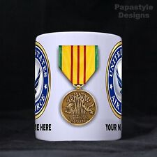 US Air Force Service Medals Personalized 11oz Coffee Mugs Made in the USA.