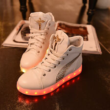 fashion lady led night light sneaker shoes nightclub dancing light lace up shoes