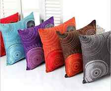 Home Decorative 18''x18'' Faux Suede Embroidered Pillow Case/Cushion Cover