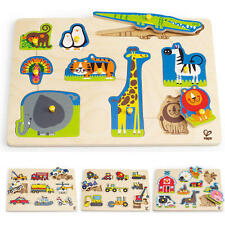 New Hape WOODEN PEG PUZZLE Activity/Learning Sorting Toy Baby/Toddler/Child