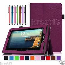 "Folio Leather Case Cover+Gift Pen For 7"" Verizon Ellipsis 7 4G LTE Tablet DZP"