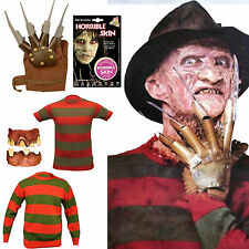 Fancy Dress Halloween Freddy Seperate Items Claw Skin Stripe Jumper Nightmare