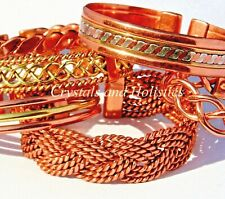 Magnetic and Non Magnetic Solid Copper Bracelets Bangle Pain Relief Arthritis