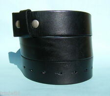 Snap on Belt Real Hide Leather Black Brown XXLarge