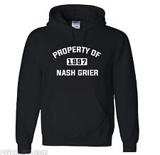 "Property of Nash Grier Vine Music Star Hooded Sweatshirt Hoodie ""NEW - Unused """
