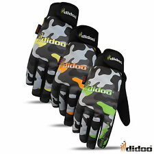 New Mens Full Finger Cycling Gloves Waterproof Windproof Camouflage Gel Padding