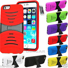 Heavy Duty Armor Defender Silicone PC Kickstand Case Cover for iPhone 6 /6S 4.7""