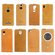 Ezreal Natural Handmade Genuine Real Leather Skin Case Cover For Cell Phones