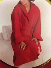 """WARM & COSY FLEECE ROBE/DRESSING GOWN - ONE SIZE(LENGTH 39"""") - RED or PINK"""