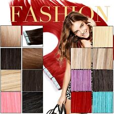 """100% Human Remy Highlight Skin Weft Hair Tape In Hair Extension 20"""" 50g Two Tone"""