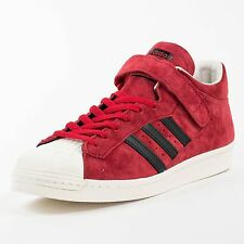 ADIDAS PRO SHELL SNEAKERS UNIVERSITY RED BLACK LEGACY G61112