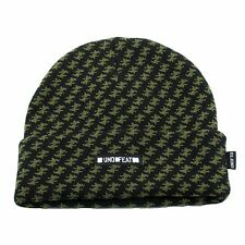 UNDEFEATED SHEMAGH BEANIE BLACK UNDFTD WINTER HAT SKULLY LA CANT LOSE