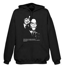 MALCOLM X HOODIE - Black Panther Party Hip Hop Political Civil Rights - S to XXL