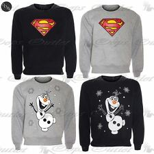 Unisex Mens Womens Ladies Christmas Olaf Frozen Superman Knitted Sweatshirt Tops