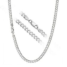 925 Sterling Silver Men's Italian 7mm Cuban Curb Link Chain Necklace ALL SIZES