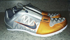 NEW Mens NIKE Zoom LJ 4 Long Jump Pole Vault Track Field Shoes Silver Orange 15