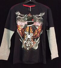 Long Sleeve T-Shirt Guitar Flames Print Size's 8 -9/10- 11/12-13/14-15/16years