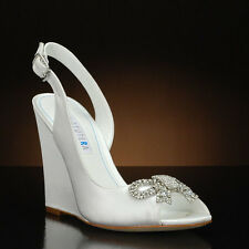 "David Tutera ""Fancy"" White Sling Back Wedge"
