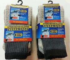 BOY'S 6 PK  THERMAL INSULATED EXTREME WEATHER  WINTER TUBE SOCKS FOR SMALL FEET