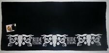 """Mustang Embroidered Solid Black Navajo Wool Saddle Blanket 36"""" x 34"""""""
