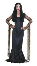 The Addams Family Morticia Adult Women Halloween Costume Gothic Goth Dress 15526