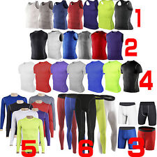 Mens Body Armour Compression Training Wear Base Under Layer Tops Vests Skinny