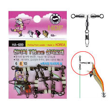 Fishing T Shape Quick Snap Swivel Glow Ball Great For Squid jig or Drop Shot Rig