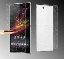Front & Back Tempered Glass Film Screen Protector For Sony Xperia Z ultra XL39H