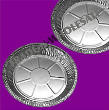 """INDIVIDUAL FOIL PIE PLATES 6¾"""" DISHES, CASES, ROUND, TIN CONTAINER, DISPOSABLE"""