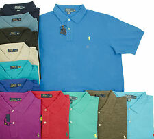 POLO RALPH LAUREN BIG TALL MENS THE MESH SHIRTS PONY BLUE BLACK BEIGE GREEN RED