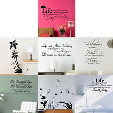 7 Patterns HOT Quote Motto Art Vinyl Wall Sticker Mural Decals Transfer