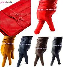 LADIES WOMEN LEATHER GLOVES THINSULATE FLEECE LINED WINTER DRIVING SOFT LEATHER