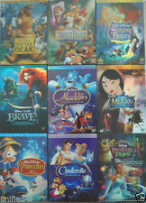 Walt Disney - Pixar - Dreamworks Dvds Pirate Fairy,BEAUTY AND BEAST.Mulan 2 DVD