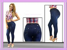 Mid rise push up skinny jeans brazilian butt lifting sexy levanta cola MM M781