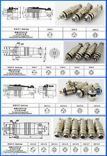 1Set 8mm 9mm 10mm 12mm XLR Aviation Panel Chassis Metal Quick Fast Connector