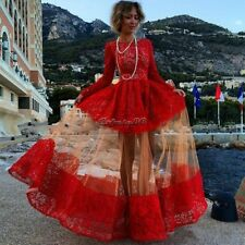Sexy Women Vintage Lace Evening Dress Formal Long Prom Dresses Pageant Ball gown