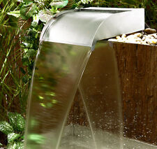 Stainless Steel Waterfall Blade Cascade Sheer Descent Water Fountain Feature