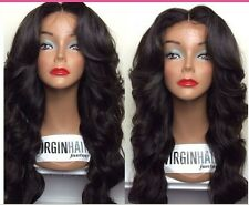 100 Malaysian  Lace Front  wigs  Human  Hair  Remy curly wave  4 color
