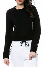 Karmaloop Obey The Condor Quilted Pullover Sweater Black